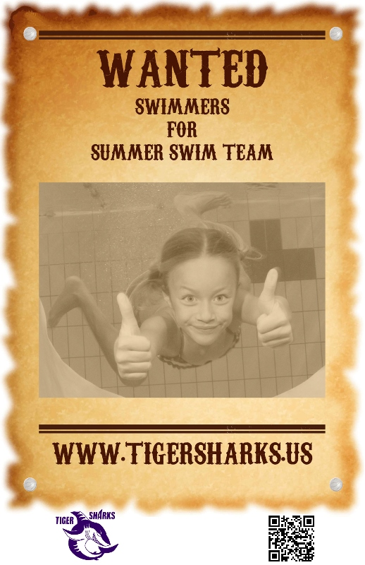 Swimmers wanted to join the Tiger Sharks Swim Team